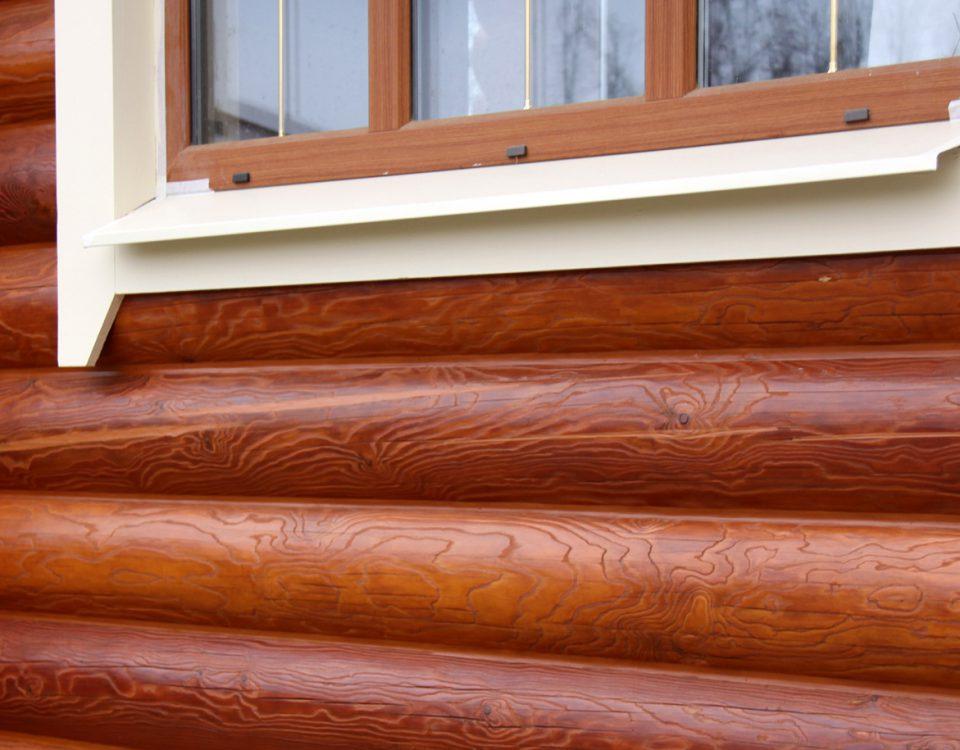 Теплый шов в деревянный сруб